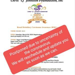 7th Annual Keepin' It Renal Run/Walk Postponed due to Coronavirus